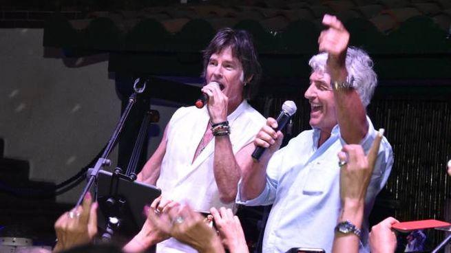 Ronn Moss e Pablito Rossi in Capannina