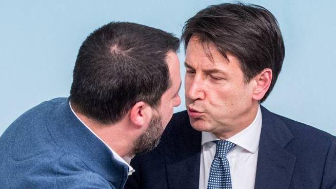 Matteo Salvini e Giuseppe Conte (ImagoE)