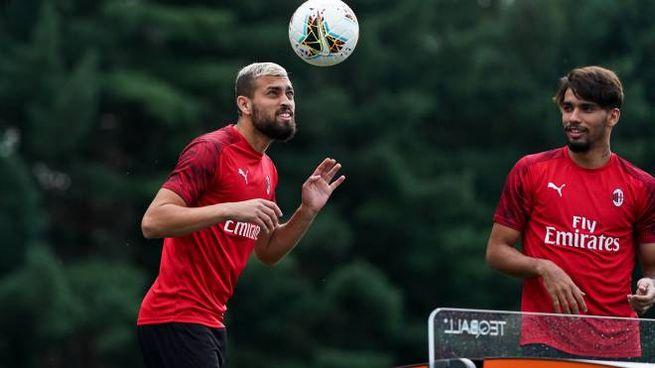 Duarte e Paquetà durante l'allenamento odierno del Milan