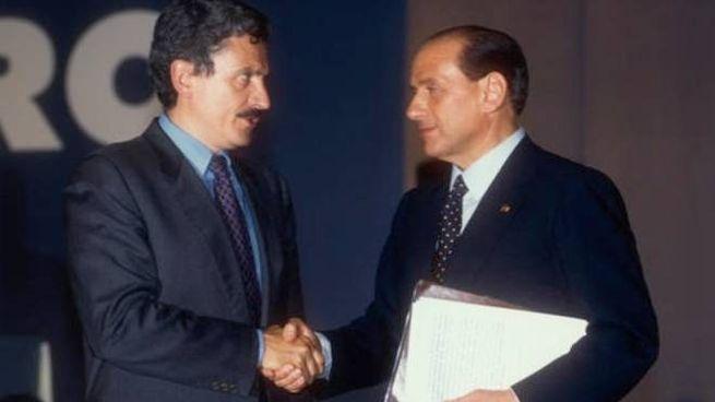 Massimo D'Alema e Silvio Berlusconi (Foto Paolo Tre)
