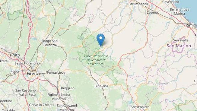 Terremoto tra Forlì e Cesena, epicentro a Premilcuore (Fonte Ingv OpenStreetMap)
