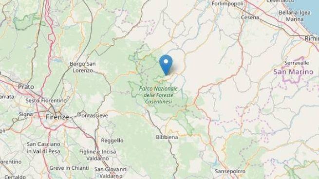 La zona dell'epicentro del terremoto (Fonte: INGV)