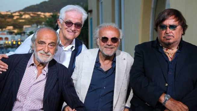 Da sin: Ninì Salerno, Franco Oppini, Jerry Calà e Umberto Smaila