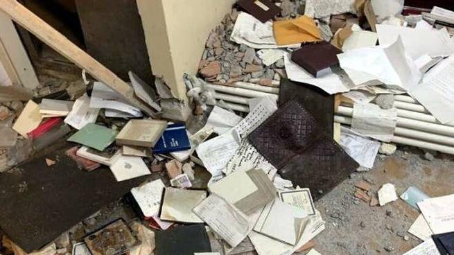 La devastazione in casa Caporicci