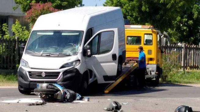 Cesenatico, i mezzi coinvolti nell'incidente mortale (foto Ravaglia)