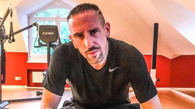 La foto postata su Twitter da Ribery