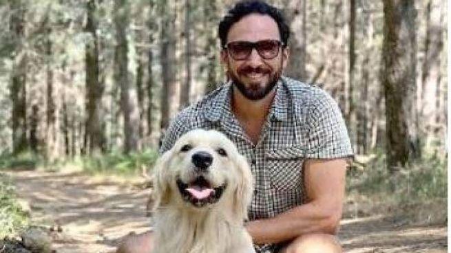 Francesco Ruscelli con il suo cane