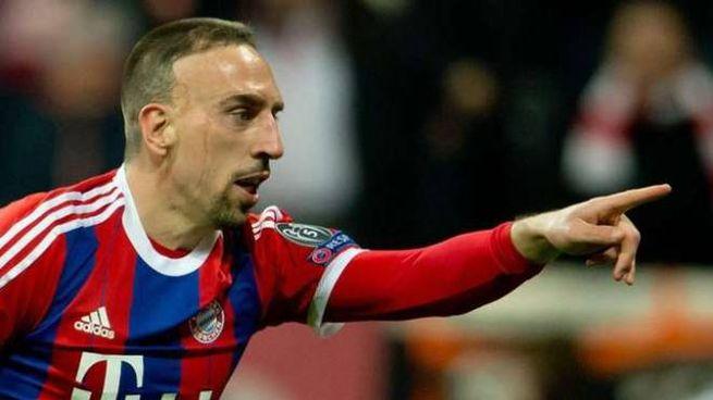 Franck Ribery con la maglia del Bayern