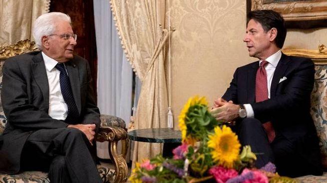 Sergio Mattarella e Giuseppe Conte al Quirinale
