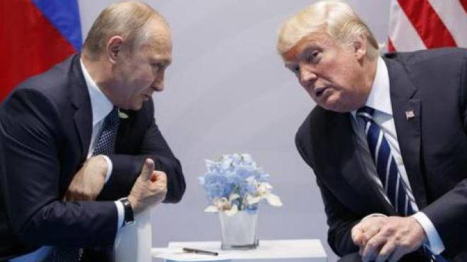 Vladimir Putin e Donald Trump (Ansa Ap)