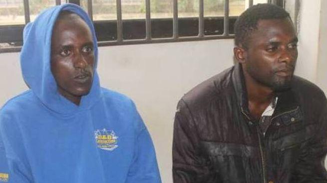 Moses Luwali Chembe e Abdulla Gababa Wario nel Tribunale di Malindi