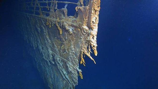 Una delle immagini del Titanic filmate in questi giorni