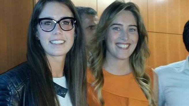 Giorgia Bellucci con la Boschi