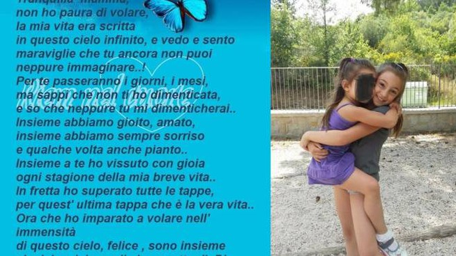La poesia postata da Michela per la figlioletta Giulia