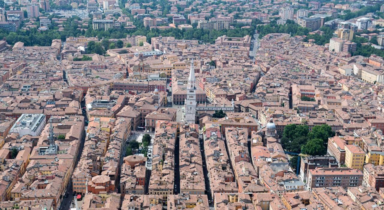 Una veduta di Modena dall'alto.