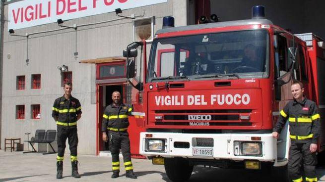 Intervento provvidenziale dei vigili del fuoco