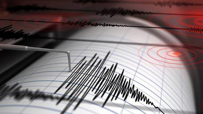 Un sismografo registra una scossa di terremoto, foto generica