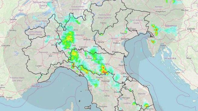 Meteo, il radar della Protezione Civile
