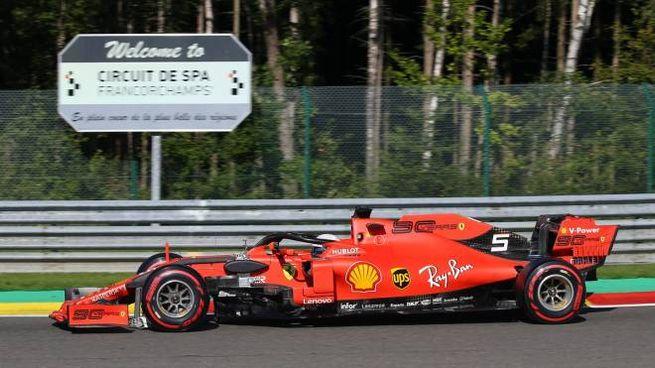 Vettel a Spa (Lapresse)