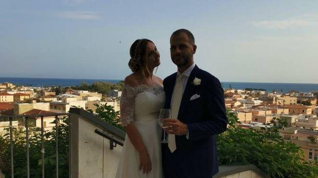 Benedetta e Giulio, novelli sposi
