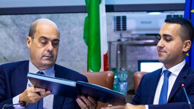 Nicola Zingaretti e Luigi Di Maio (Imagoeconomica)