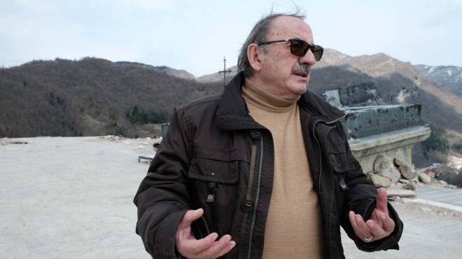 Il sindaco Aleandro Petrucci ad Arquata del Tronto
