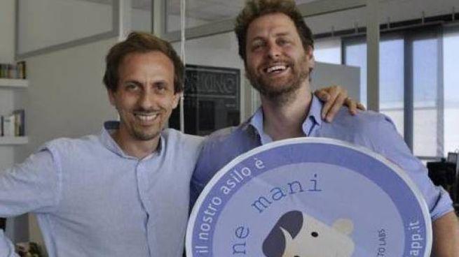 """Alessandro Pirovano 47, e Tommaso Ferrari 37 anni, sviluppatori dell'applicazione """"In buon"""