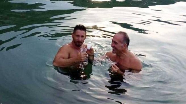 POCO PRIMA DELL'INCONTRO Andrea Roberti, a sinistra, e Filippo Clini