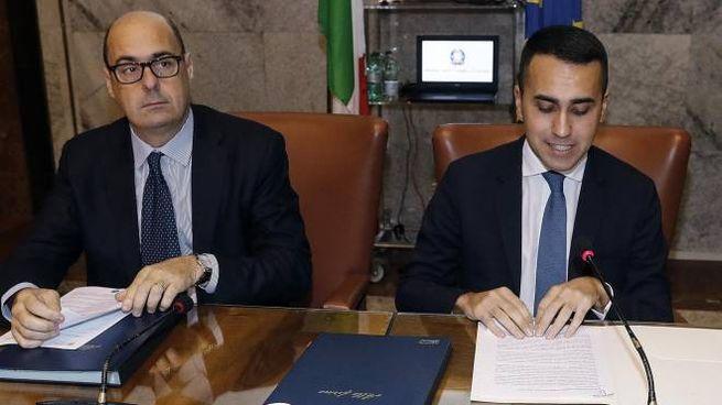 Luigi Di Maio e Nicola Zingaretti (Ansa)
