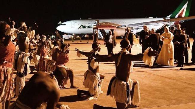 L'arrivo del Papa in Mozambico (Lapresse)