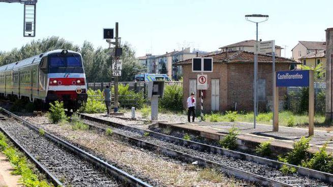 Il treno che ha investito il ragazzo (Fotocronache Germogli)