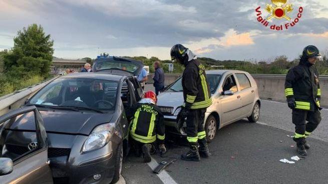 L'incidente sulla Variante all'altezza di Montenero