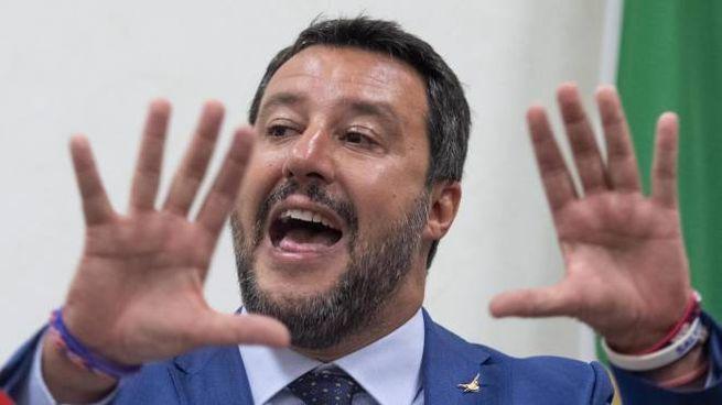 Matteo Salvini, leader della Lega (Ansa)