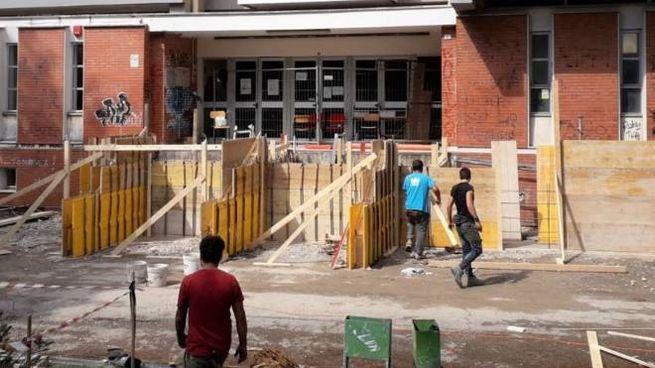 Il liceo Nolfi come si presentava venerdì con l'avvio dei primi lavori