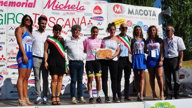 La cubana Sierra in maglia rosa vincitrice del Giro della Toscana