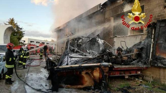 La scena dell'incendio