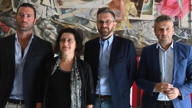 Stefano Bascheri, Lucia Gazzotti, Matteo Lepore e Manes Bernardini (FotoSchicchi)