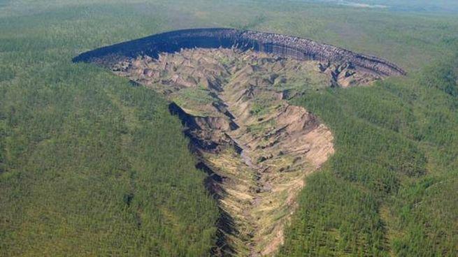 Il cratere di Batagaika (Foto Twitter)