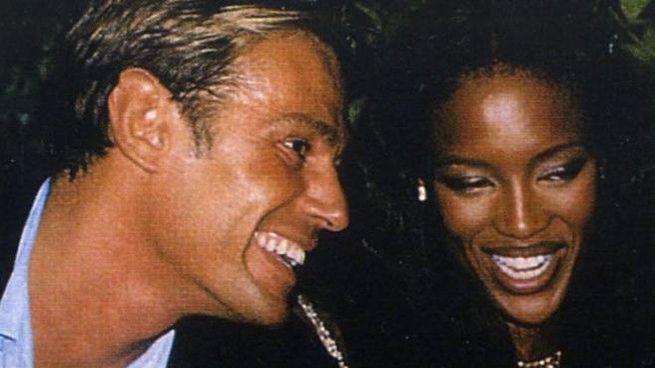 Piero Piazzi e Naomi Campbell