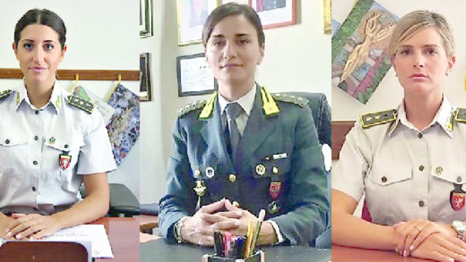 Il capitano Roberta Schiavulli, Il capitano Silvia Patrizi, il tenente Lorenza Monetta
