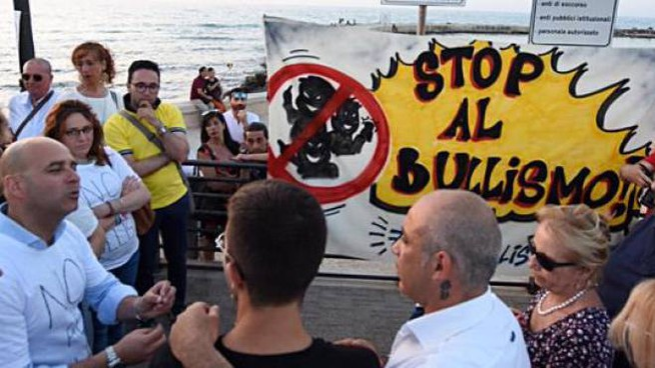 Una manifestazione contro il bullismo