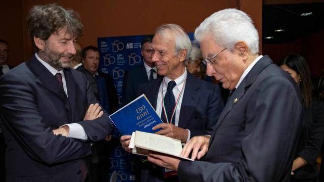 Da sinistra: Dario Franceschini, Ricardo Franco Levi, Sergio Mattarella