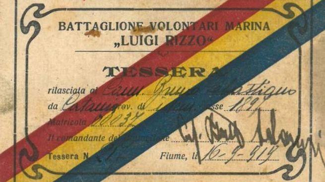 Uno dei documenti in mostra all'Archivio di Stato della Spezia (retro)