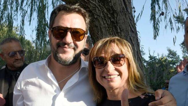 Matteo Salvini e Donatella Tesei a Spello