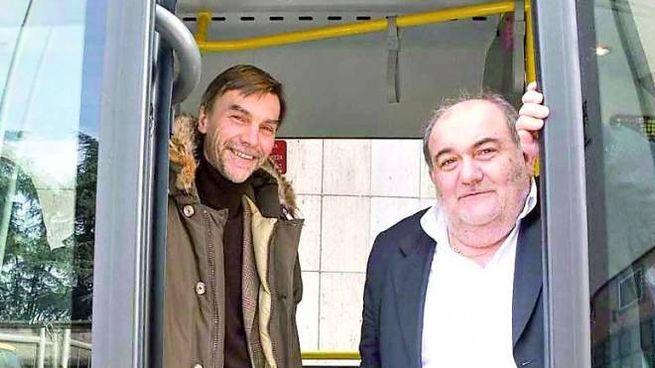 Graziano DelRio e angelo Malagoli in una foto dei primi anni