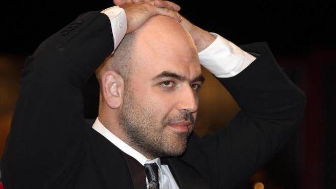 Roberto Saviano alla Mostra del cinema di Venezia (Ansa)