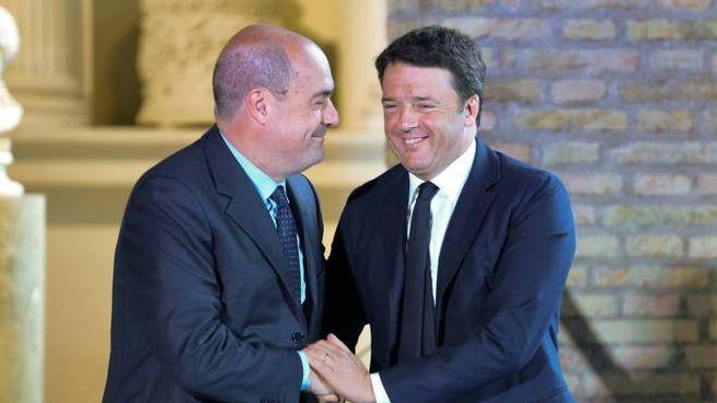 Nicola Zingaretti con Matteo Renzi (ImagoE)