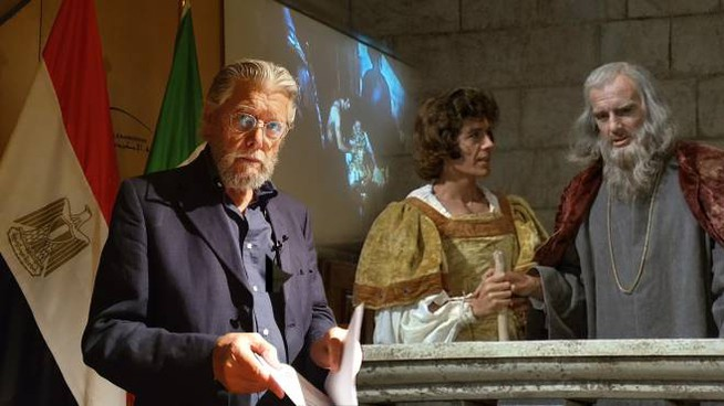 Carlo Simoni ad Alessandria d'Egitto al Simposium su Leonardo da Vinci e nella serie Tv