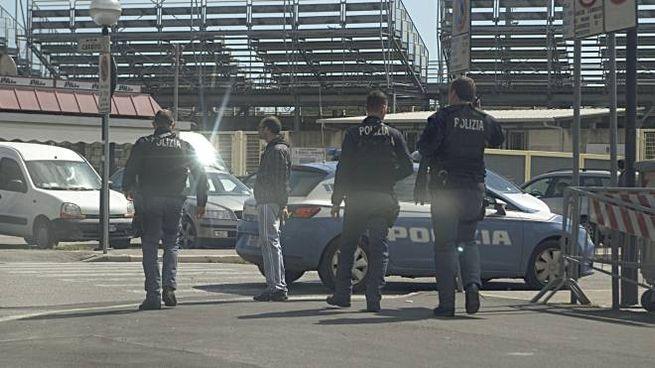La polizia allo stadio (archivio)