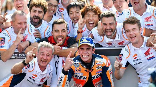 MotoGp, Marc Marquez trionfa a Misano Adriatico (foto Ansa)
